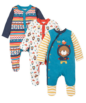 0307c9e66 Bear Sleepsuits - 3 Pack