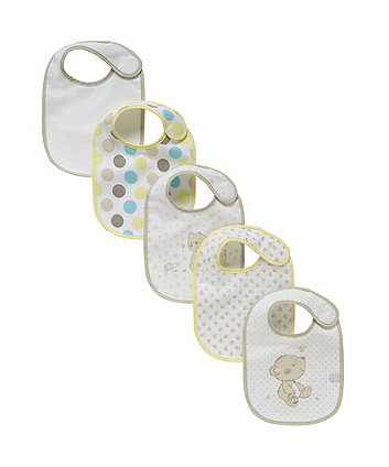 Mothercare Bear and Friends Bibs - 5 Pack