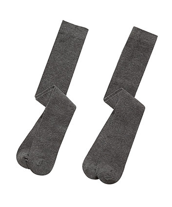 Grey Tights - 2 Pack
