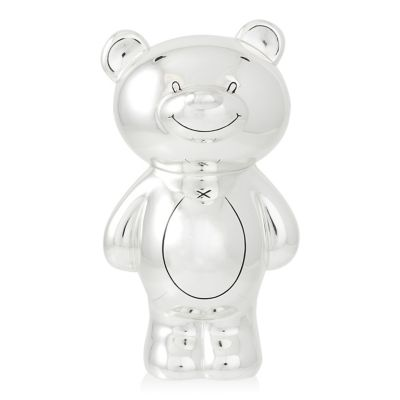 Personalised Silver Plated Bear Money Box