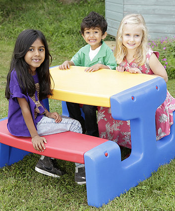 Little Tikes Large Picnic Table Kids Outdoor Furniture Mothercare