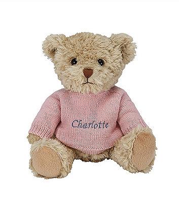 babyblooms personalised bertie bear - pink