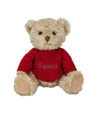 babyblooms personalised bertie bear - red