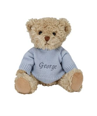 babyblooms personalised bertie bear - blue