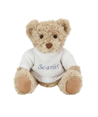 babyblooms personalised bertie bear - white