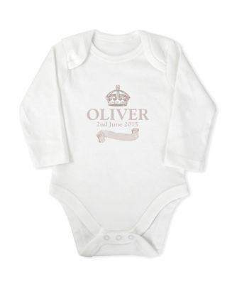 Personalised Royal Baby Bodysuit