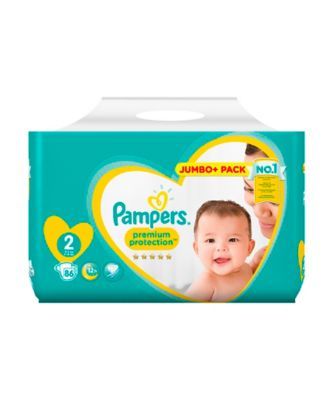 Pampers new baby size 2 mini nappies (3-6kg /6-13lbs) -  68 Pack