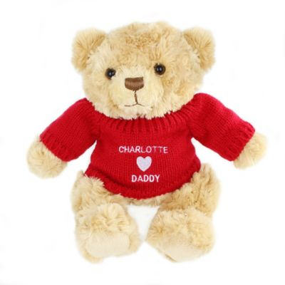 Personalised I Heart Daddy Teddy