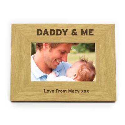 Personalised Daddy and Me  Wooden Photo Frame
