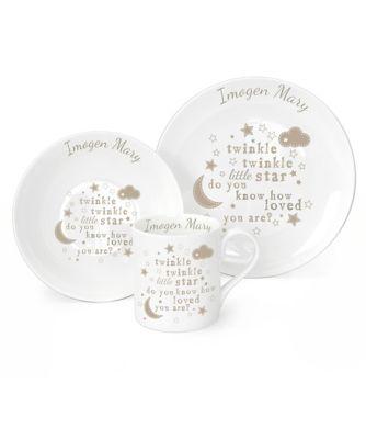 personalised twinkle twinkle breakfast gift set