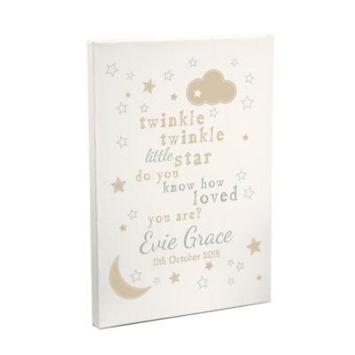 personalised twinkle twinkle canvas