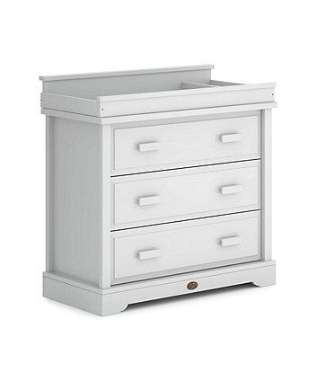 Boori eton 3 drawer dresser with squared changing station - white