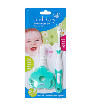 Brush Baby my first toothbrush and teether set