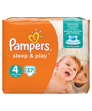 Pampers Simply Dry Size 4 Maxi Nappies (7-18kg/15-40 lbs) - 37 Nappies