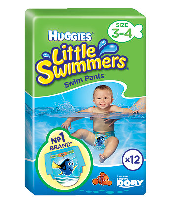 Huggies little swimmers swim nappies - size 3-4 (7-15kg/15-34lbs) - 12 pack