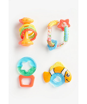 Rattle Gift Set - 4 Piece
