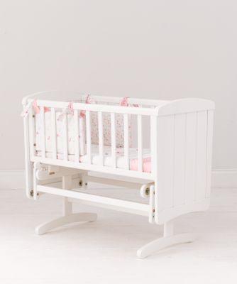 mothercare deluxe gliding crib - white