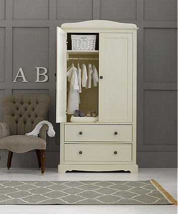 mothercare bloomsbury wardrobe - ivory