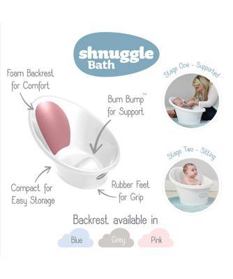 Shnuggle bath with pink backrest