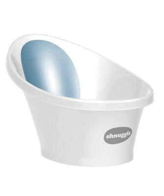 Shnuggle bath with blue backrest