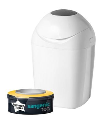 Tommee Tippee sangenic tec nappy disposal bin - white