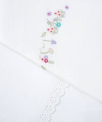 my little garden flat cot/cotbed sheets - 2 pack