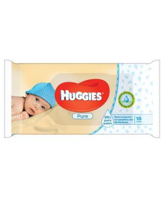 Huggies pure single wipes - 56 pack