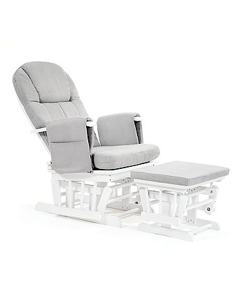Mothercare Reclining Glider Chair White With Grey Cushion