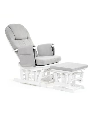 mothercare reclining glider chair - white with grey cushion