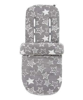 mothercare fleece cosytoe - grey stars