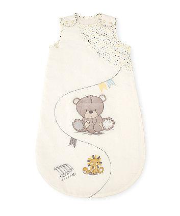 teddy's toy box snoozie 2.5 tog sleep bag - 0-6 months