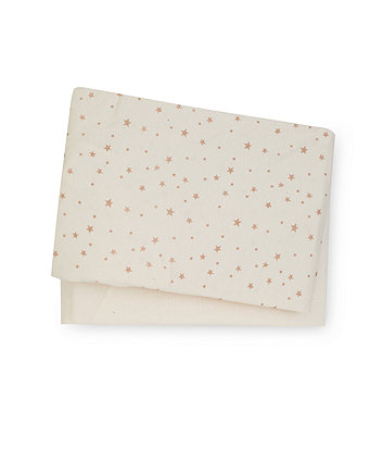 mothercare cream jersey cotton cot bed sheets - 2 pack