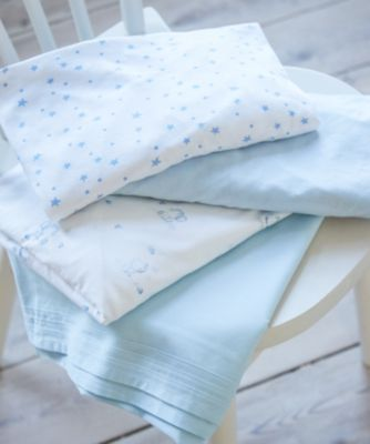 Amazing Mothercare Blue Jersey Cotton Cot Bed Sheets   2 Pack
