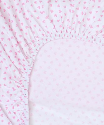 Mothercare Pink Jersey Cotton Cot Bed Sheets   2 Pack