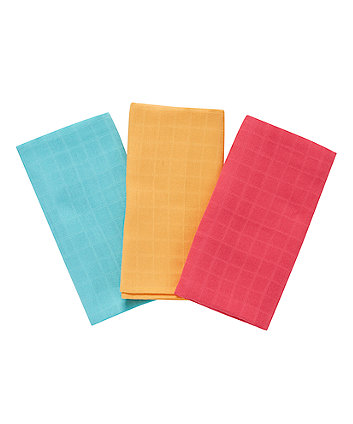 Multicoloured Extra Large Muslin Cloths - 3 Pack