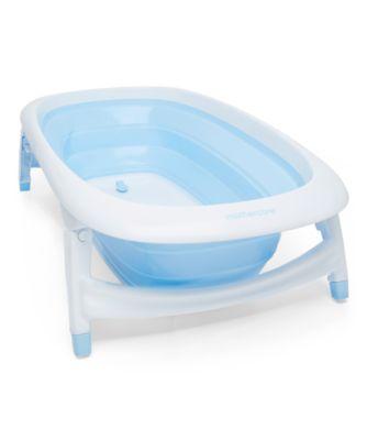 foldable baby bath - blue
