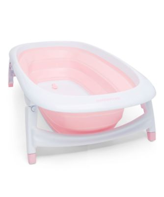 foldable baby bath - pink
