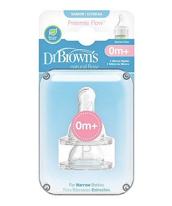 Dr Brown's Preemie Bottle Teats - 2 Pack