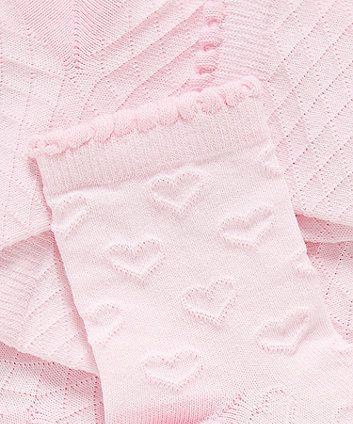 Pink Textured Socks - 5 Pack