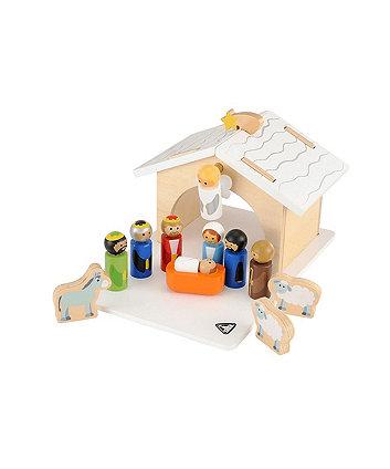 elc wooden nativity set