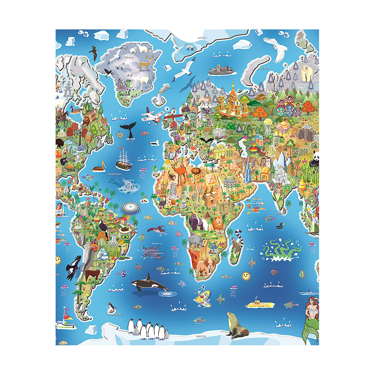Jig-Map World Puzzle