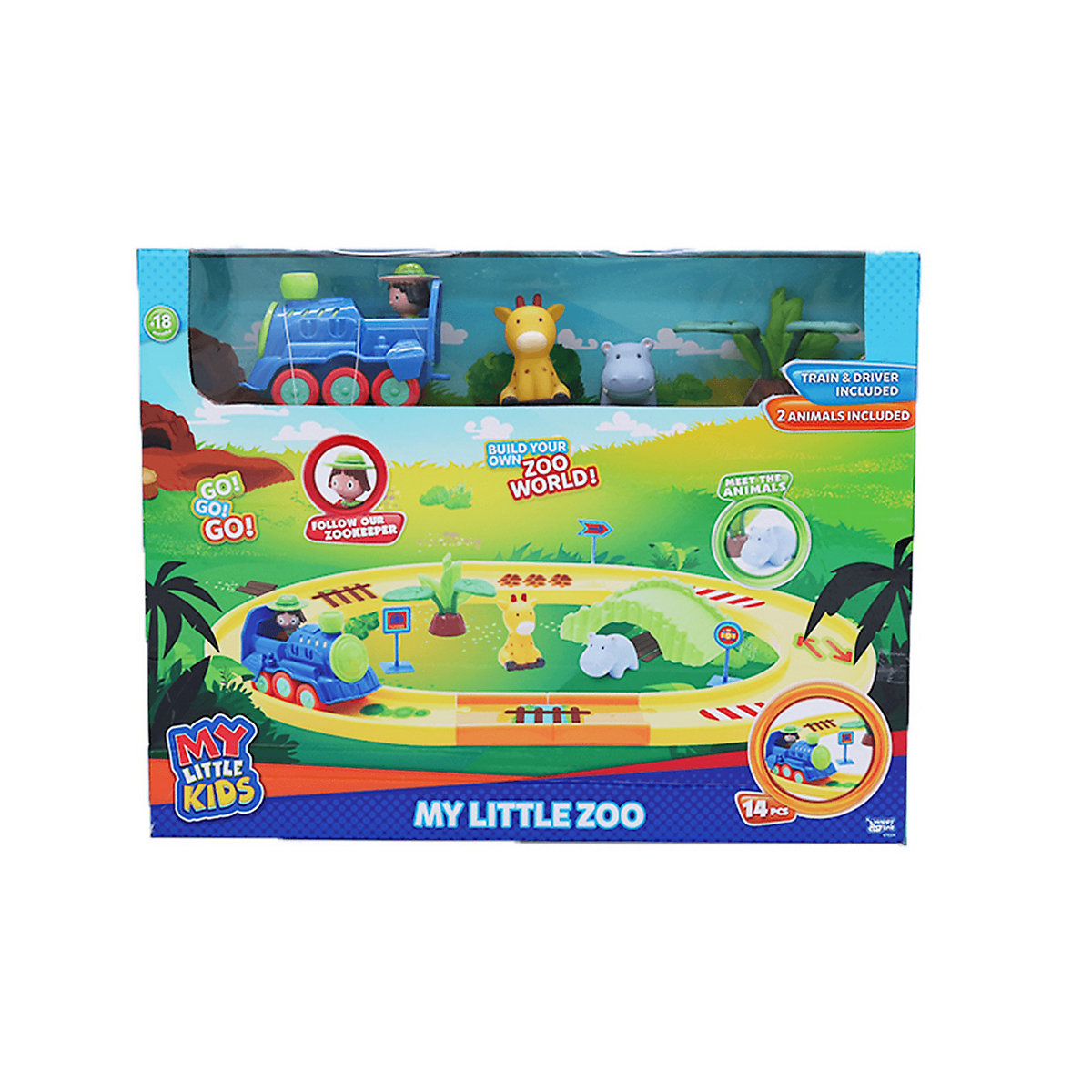 My Little Zoo Train Playset