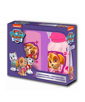 Paw Patrol Sandwich Box And 400Ml Canteen Pink