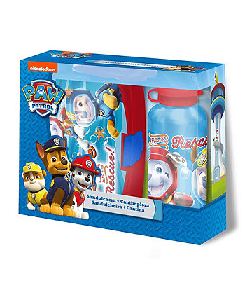 Paw Patrol Sandwich Box And 400Ml Canteen Blue