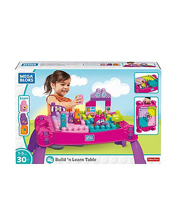 Mega Bloks Pink Build And Learn Table 30 Pieces