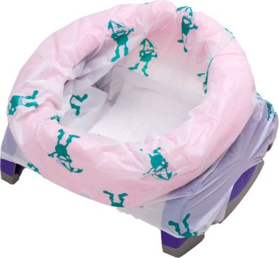 Potette plus fold away travel potty and trainer - pink