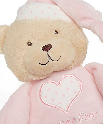 pink bedtime bear