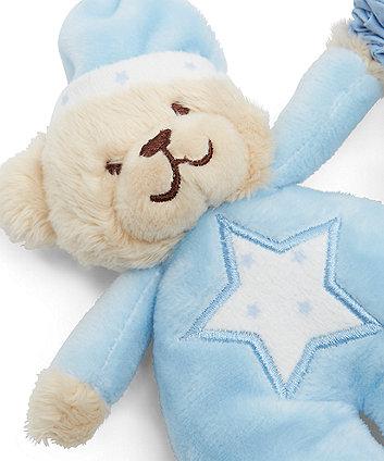 bedtime bear blue musical pull