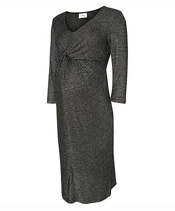 b5b7b570444be Mamalicious Glitter Jersey Maternity Dress | maternity dresses | Mothercare