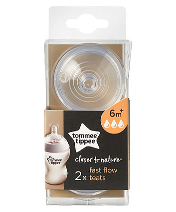 Tommee Tippee closer to nature fast flow teat - 2 pack